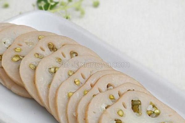 绿豆镶莲藕的做法