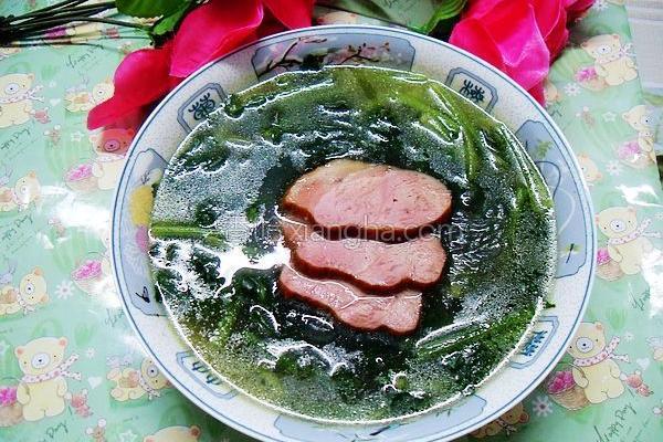 菠菜粉丝汤的做法