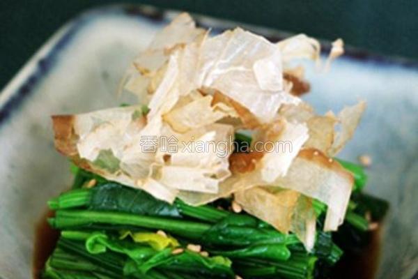 木鱼花菠菜的做法