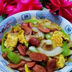洋蔥雞蛋炒火腿的做法[圖]
