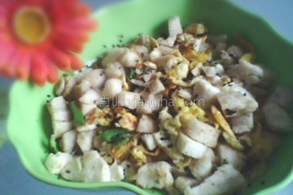 蛋炒馍花的做法