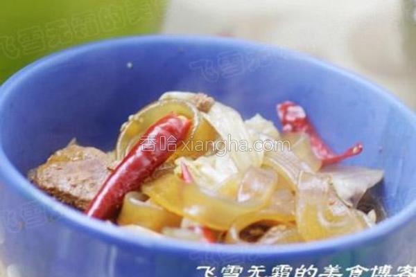 猪肉酸菜炖粉条的做法