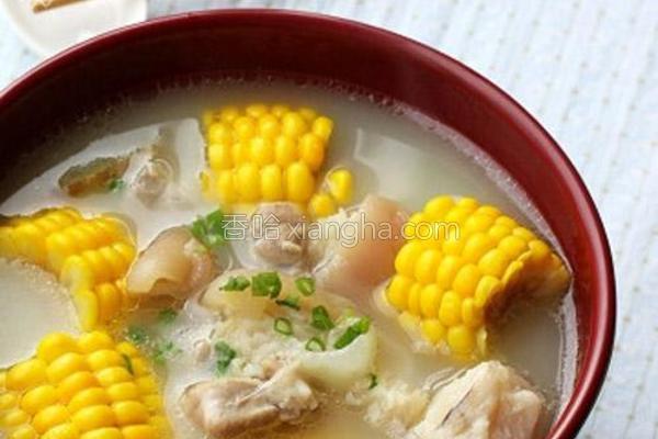 猪手甜玉米汤的做法