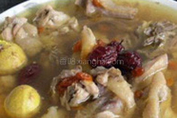 红枣枸杞蒸老鸡的做法