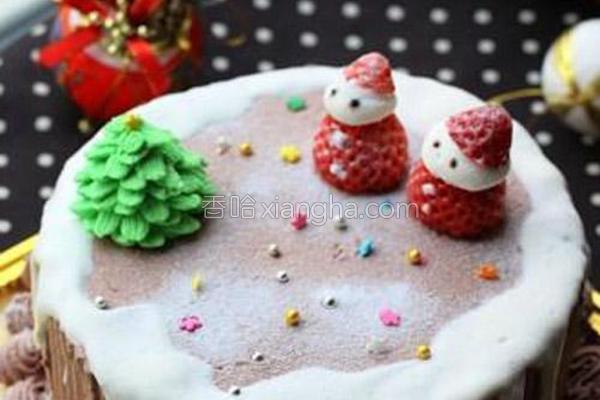 圣诞节奶油蛋糕的做法