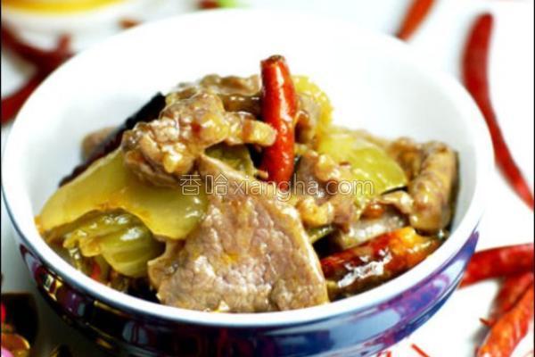 酸菜炒牛肉的做法
