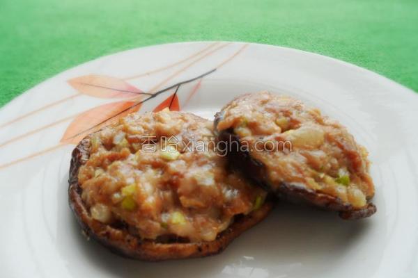 烤香菇酿肉的做法