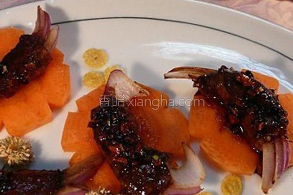 蟹形牛肉洋葱卷的做法