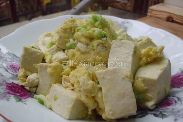 蟹肉烩豆腐的做法