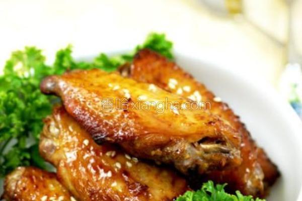 酒香蜜汁烤翅的做法