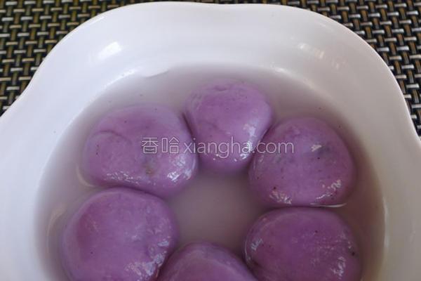 果干紫山药汤圆的做法