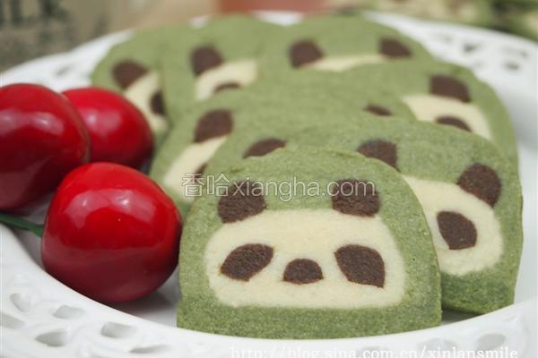 彩色熊猫饼干