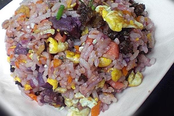 蛋炒紫薯饭的做法