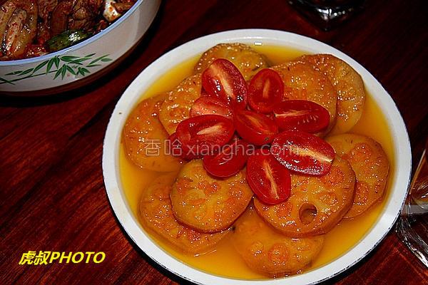 橙香糯米藕的做法