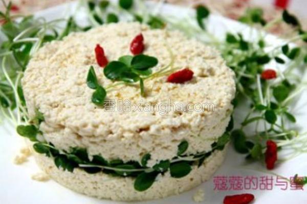 香椿苗拌豆腐的做法