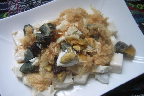 双蛋拌豆腐的做法