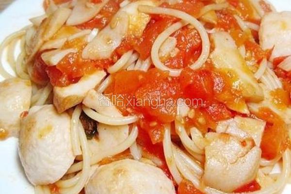 茄汁鱼丸意粉