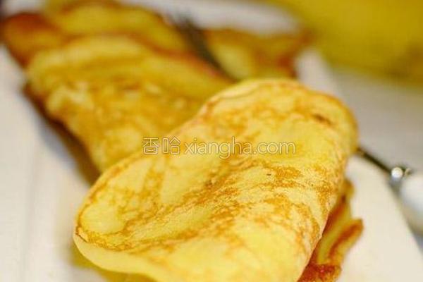 炼乳香蕉松饼的做法