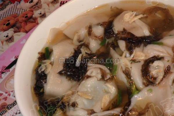 虾米汤馄饨的做法
