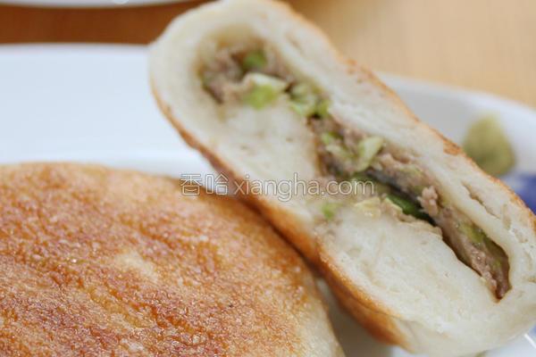 白菜牛肉煎饼的做法