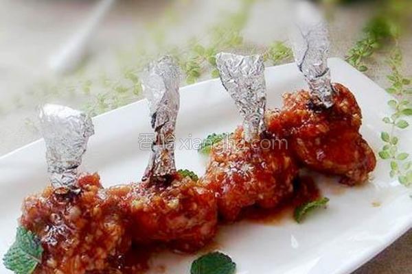 叉烧蒜香烤翅的做法