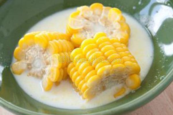 微波牛奶玉米的做法