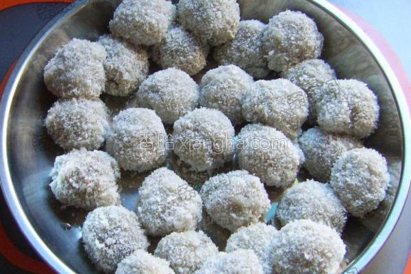 蜜豆椰蓉糯米糍的做法