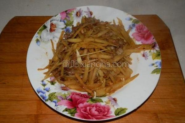 鲜姜炒肉丝的做法
