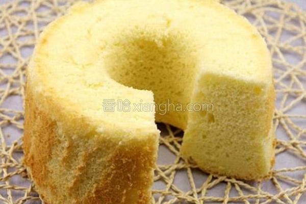 椰香戚风蛋糕的做法