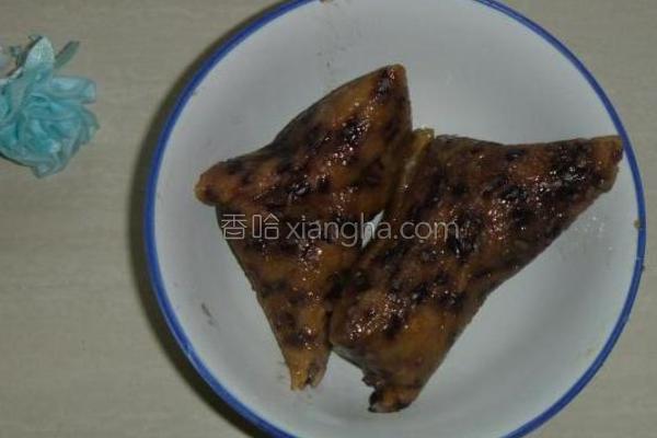 黑香糯米粽的做法