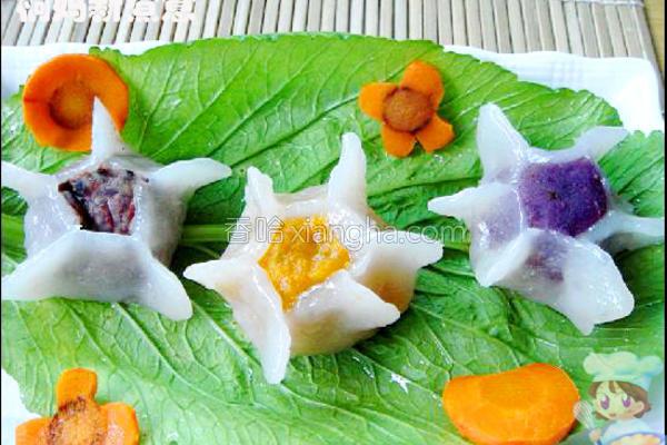 三色水晶花的做法