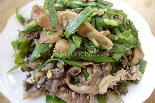 扁豆炒鲜蘑的做法