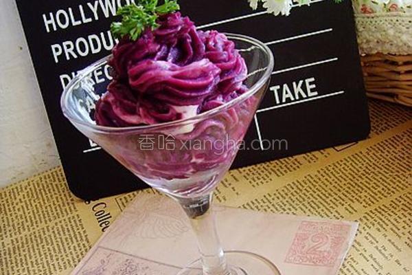 奶酪紫薯泥的做法