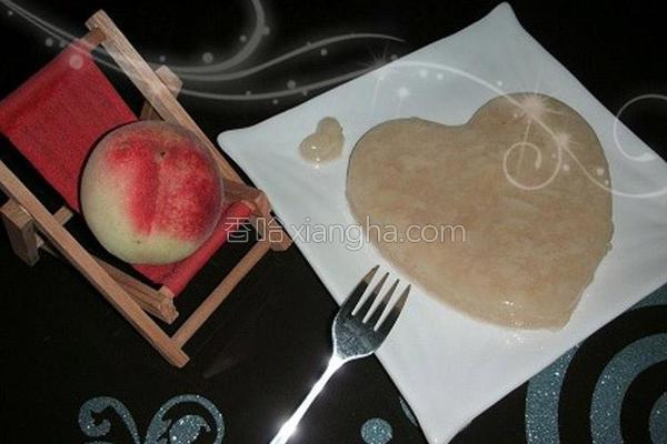 桃粒布丁的做法