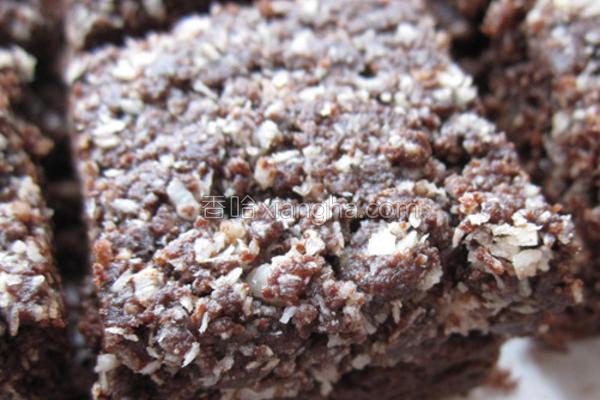 椰蓉巧克力块的做法