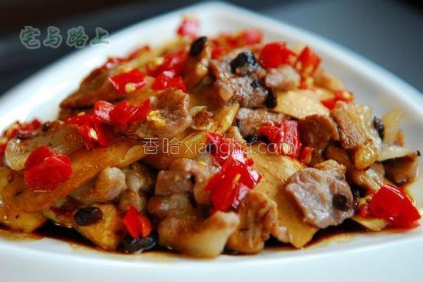 剁椒豆豉蒸香干的做法