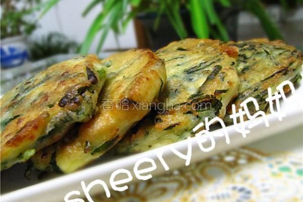 韭菜豆腐鸡蛋饼