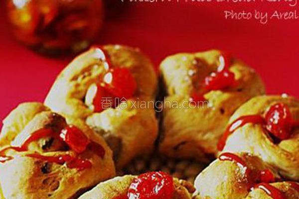 花式果干面包圈的做法