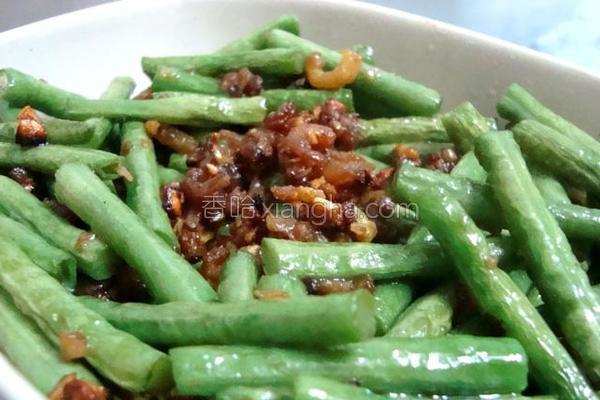 虾米炒豆角