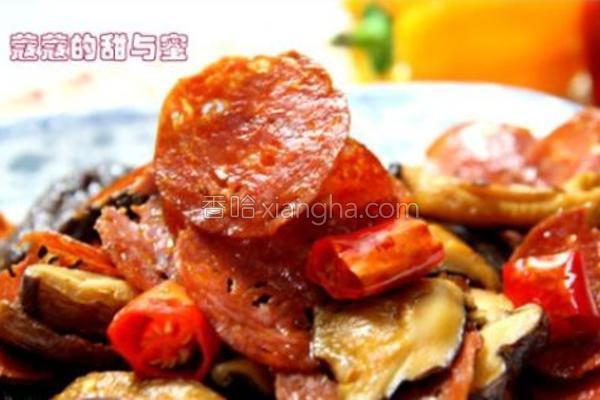 萨拉米炒香菇的做法