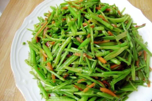 素炒香菜的做法