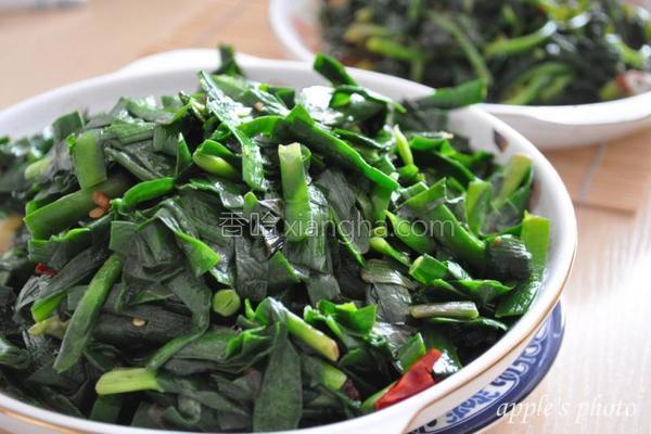 清炒韭菜成品图