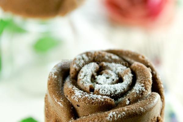 可可玫瑰蛋糕的做法