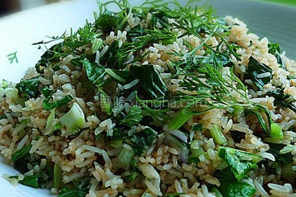 小白菜炒饭