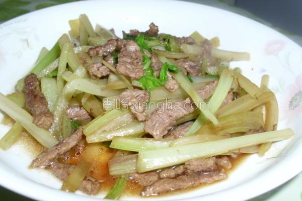 西芹炒牛肉的做法