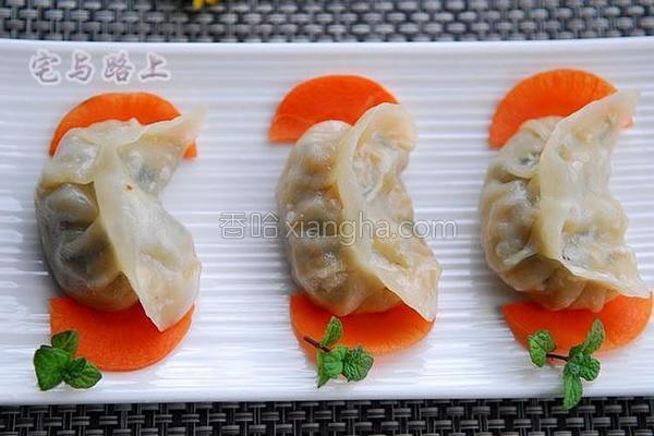 韭菜鲜肉蒸饺的做法