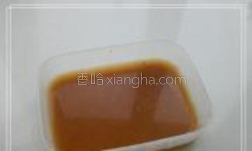 淀粉 水 一勺蚝油拌匀待用。