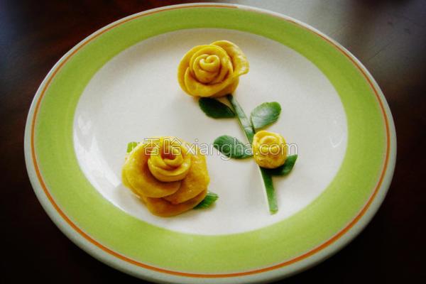 黄玫瑰成品图