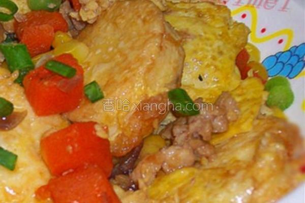 鲜色玉子豆腐的做法