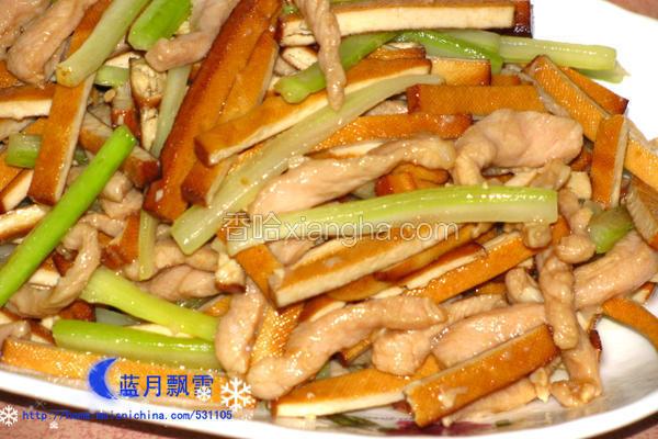 西芹豆干炒肉丝